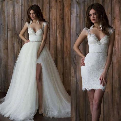 2 In 1 Brautkleid by Vestido De Noiva 2 Em 1 Vintage Lace Wedding Dress