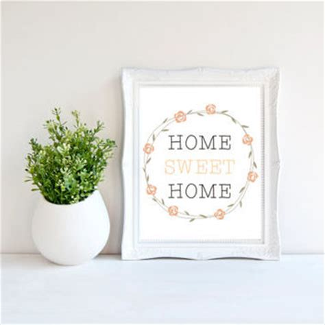 home sweet home decor instant home sweet home print from zenprintz home
