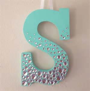 Decorating Ideas For Wooden Letters Items Similar To Bedazzled Wooden Letter On Etsy