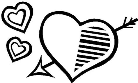 imagenes en blanco y negro faciles para dibujar corazones para colorear