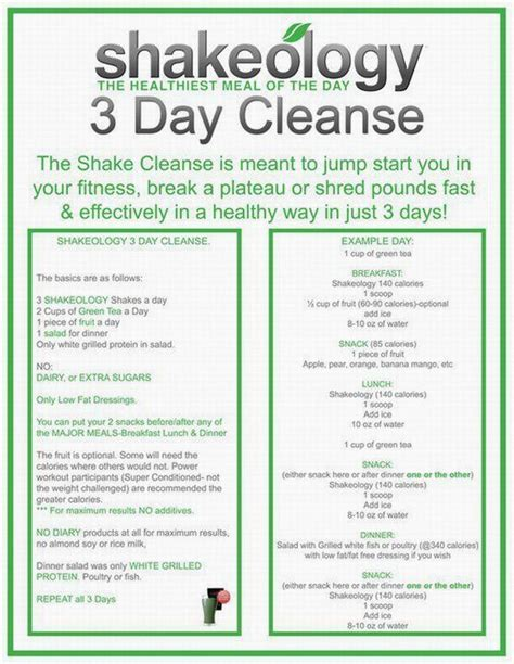 3 Day Detox Gnc by 17 Best Ideas About Shakeology 3 Day Cleanse On