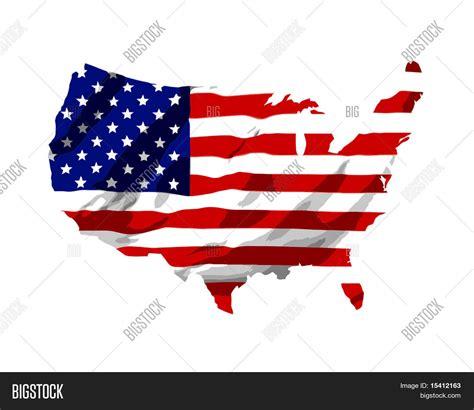 america map with flags vector america flag map stock vector stock photos bigstock