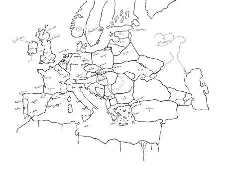 map drawing hilariously bad attempts by americans to draw europe from