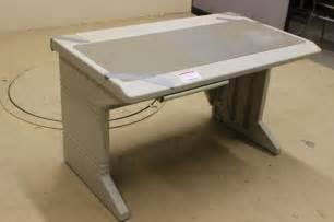 Rubbermaid Computer Desk Lot 602 Rubbermaid Micro Computer Desk W Pencil Drawer