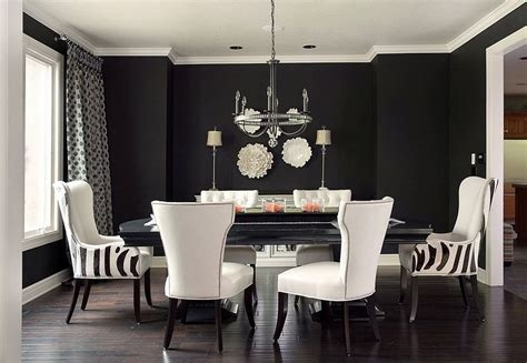 black painted room how to use black to create a stunning refined dining room