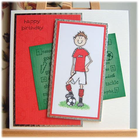 Handmade Football Cards - handmade by tillymint football birthday card