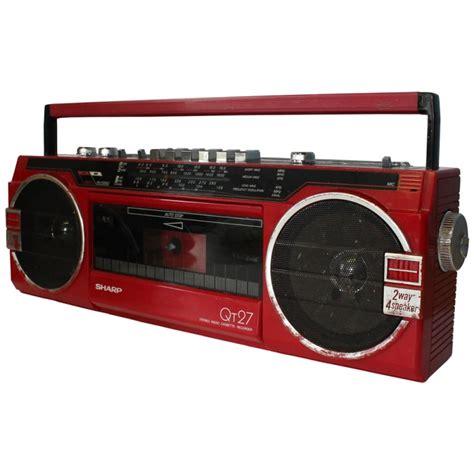 radio cassette recorder prop hire sharp qt27 stereo radio cassette recorder