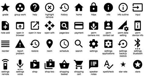 Home Design Board Google S Open Sourced Icons