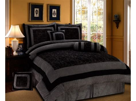 comforter sets full size for men black gray masculine bedding with 8pc queen size mens bed