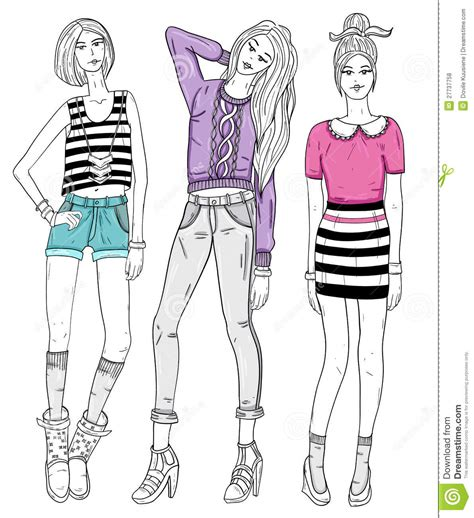 fashion illustration free fashion illustration stock vector image 27737758