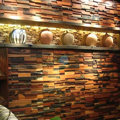 recycled wood wall reclaimed wood wall tile for interior wall design 11