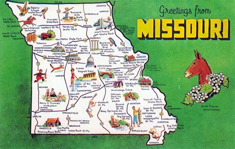 map of usa attractions large tourist map missouri state missouri state usa maps of the usa maps collection of