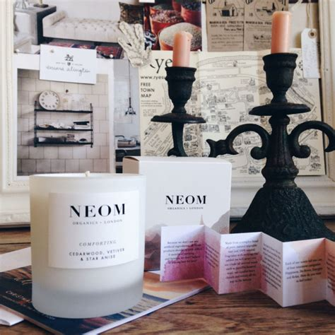neom comforting candle monday inspiration postcards from last week lobster