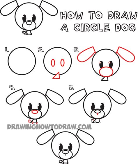 Drawing Step By Step Easy Animals by Big Guide To Drawing Circle Animals Easy Step By Step