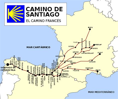el camino pilgrimage map camino de santiago walknd network