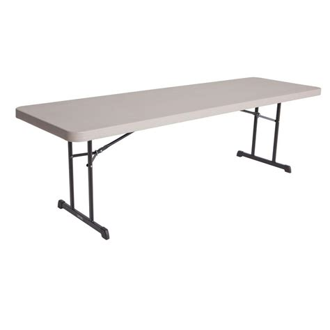 8 Foot Folding Table Lifetime Putty 4 Pack Folding Table 480127 The Home Depot