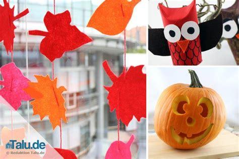 Herbstdeko Fenster Basteln Kindern by Herbstdeko Basteln 4 Ideen Zum Selbermachen Talu De
