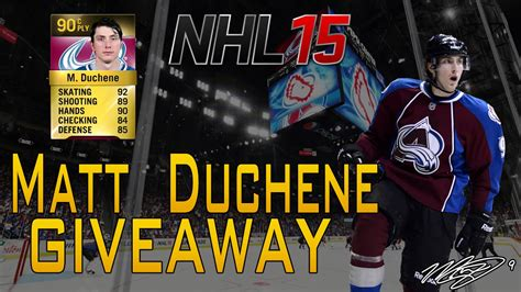 Nhl Giveaway Stats - nhl 15 hut matt duchene giveaway review youtube