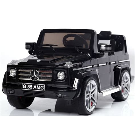 Jeep Mercedes by Licensed Black 12v Mercedes G55 Amg Ride On Jeep With