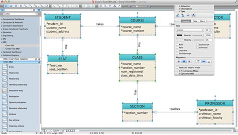 diagramming program er diagram programs for mac professional erd drawing
