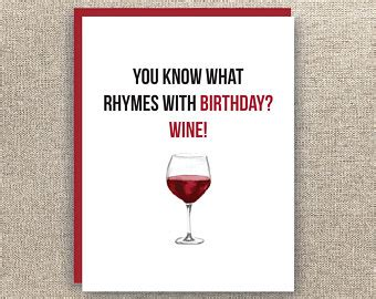 birthday drink wine drink wine birthday card birthday
