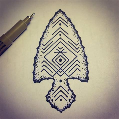 arrow head tattoo arrowhead