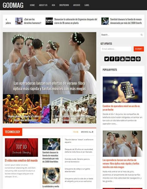 godmag template blog seo responsive keren untuk blog
