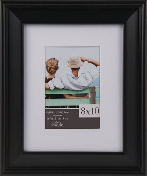 Frame Matted To 8x10 by Gallery Solutions 8x10 Black Slant Frame Matted To 5x7