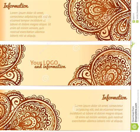 henna design vector free download ornate henna ornament vintage vector banners royalty free