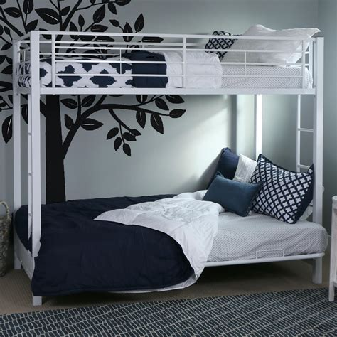 white metal bunk bed with futon com walker edison twin over futon metal bunk bed