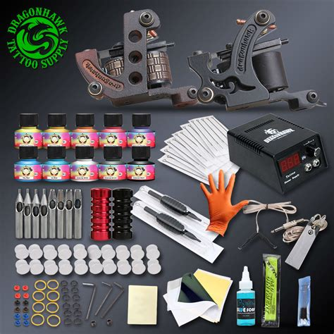 us tattoo supply professional complete kits set machine power