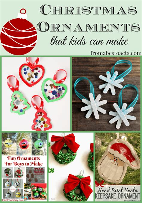 christmas ornaments to make with oreschool boy diy ornaments for from abcs to acts