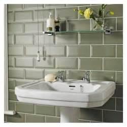 White Grout On Bathroom Floor - metro sage bevelled brick 10x20 cm kitchen wall tile
