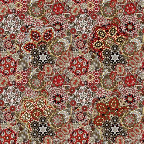 pattern vintage red paisley seamless pattern vintage red brown gold