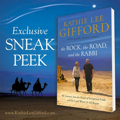 kathie lee gifford rabbi book the rock the road and the rabbi sneak peek kathie lee