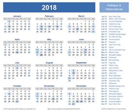 2018 Calendar With Religious Holidays 2018 Calendar Templates And Images