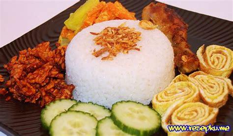 cara membuat nasi uduk enak dengan rice cooker resep cara memasak nasi uduk dengan rice cooker yang enak