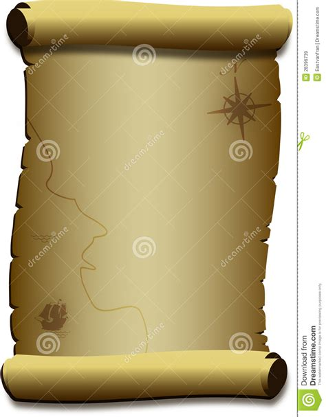 How To Make Paper Look Like A Scroll - parchment paper scroll stock vector image 28396739