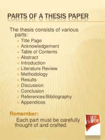 Parts Of Thesis The Abc S Of Thesis Writing The Simplest Way To Learn
