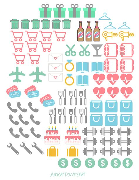 Free Printable Icons planner icon stickers free printables for happy planner