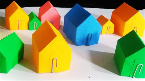 How To Make A House Using Paper - how to make a paper house