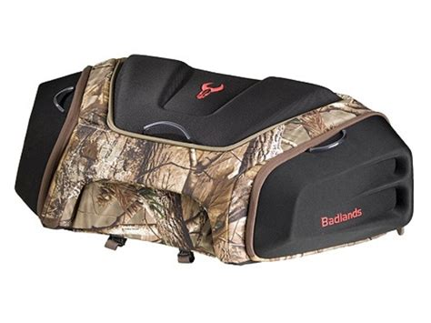 atv front rack bag badlands atv front rack bag nylon black realtree ap camo