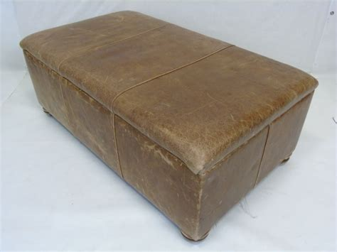 Distressed Leather Ottoman Contemporary Distressed Leather Ottoman Trunk