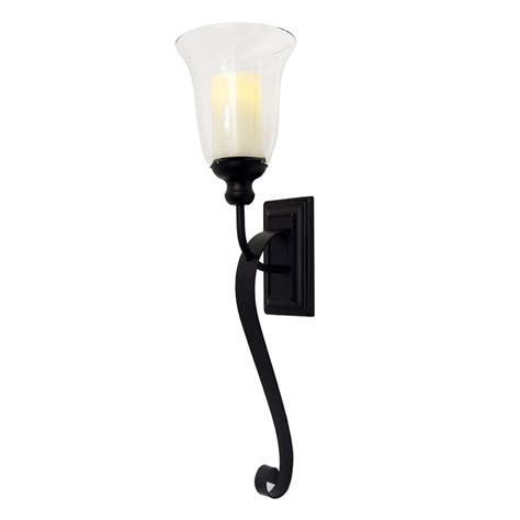 Flameless Wall Sconces Serafina Flameless Candle Sconce With Flameless Candle