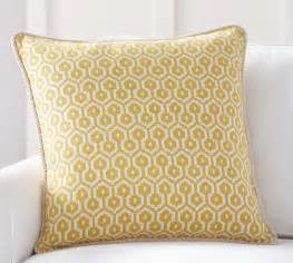 august jacquard pillow cover pottery barn