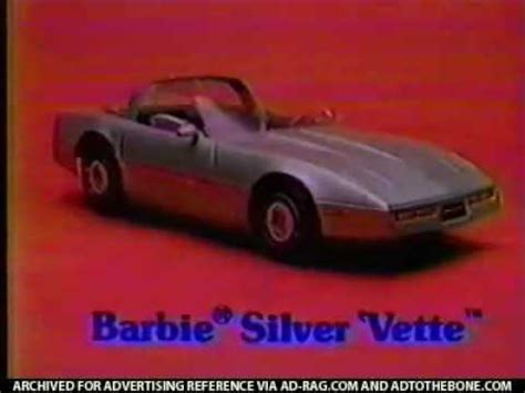 barbie corvette silver vintage 80 s barbie silver vette corvette commercial youtube