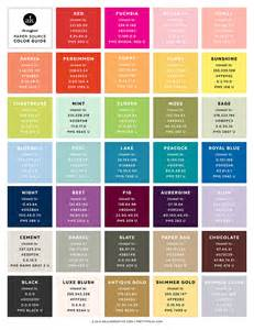 colors for html the unofficial paper source color guide pantone cmyk