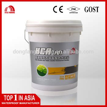 Waterproof Acrylic Emulsion Paint one component liquid applied waterproof acrylic paint