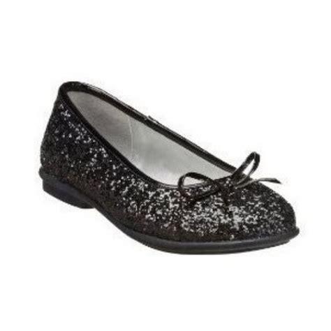 Flat Shoes Glitter Black xhilaration black glitter dress shoes monet ballet