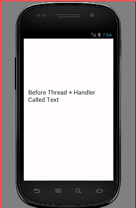 android thread with handler exle tutorial android exles - Android Handler